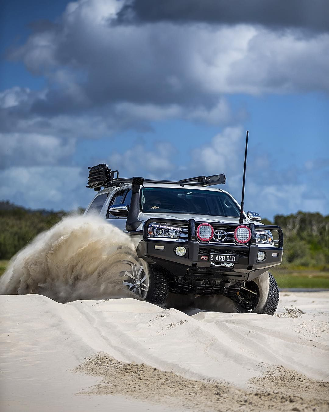 "Toyota Garage Decor: ""Having A Play In The New Lux #arb #4x4 #toyota #hilux"