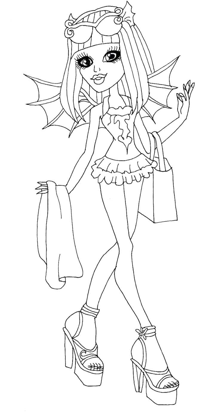 Monster High Rochelle Gregory Goyle Are Go Coloring Page | Monster ...