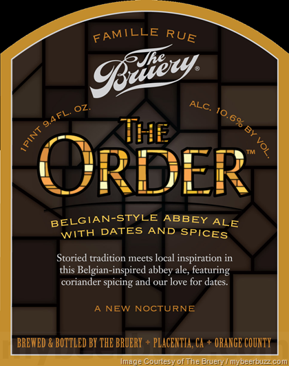 mybeerbuzz.com - Bringing Good Beers & Good People Together...: The Bruery - The Order Belgian-Style Abbey Ale