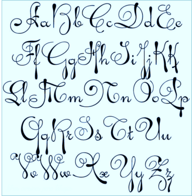 Disenos De Letras Cursivas Para Tatuajes Artisticas