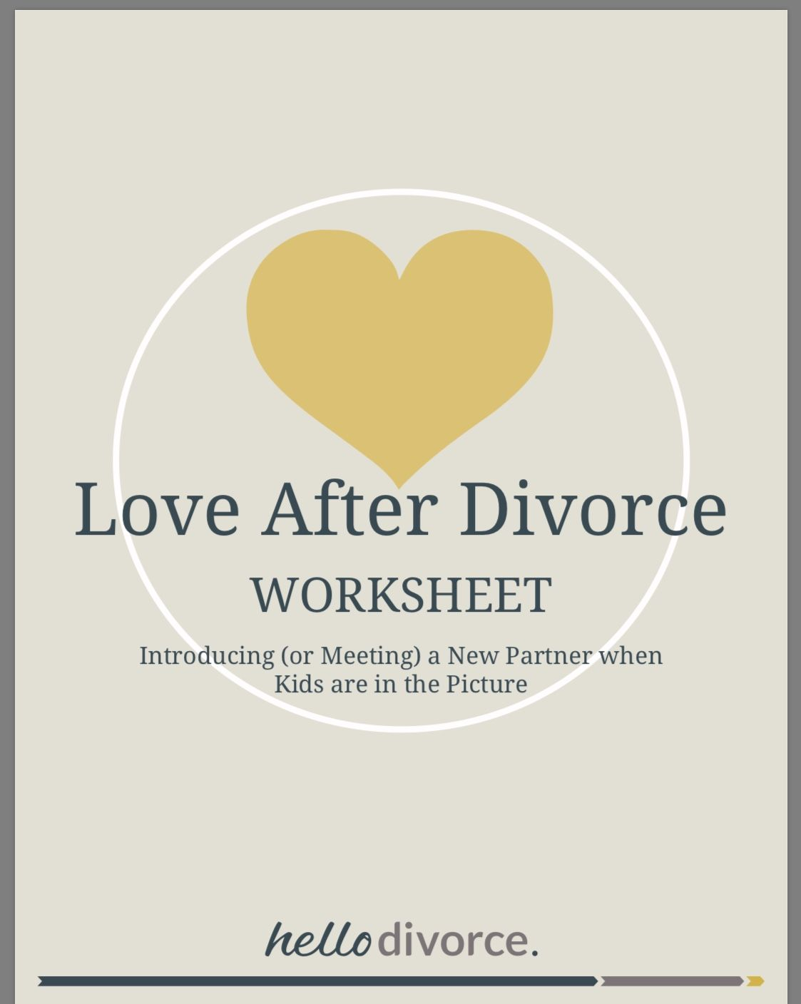 Worksheet Dating After Divorce Amp Meeting The Kids