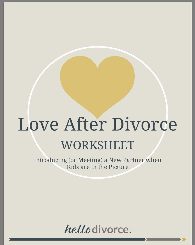 Worksheet Dating After Divorce Amp Meeting The Kids
