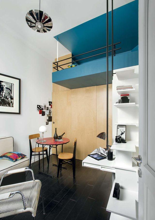 Mezzanine inspiration gain de place am nagement studio - Architecte interieur paris petite surface ...