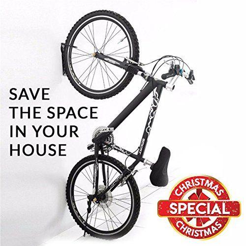 2PCS Black Bike Bicycle Cycling Pedal Tire Wall Mount Storage Hanger Stand