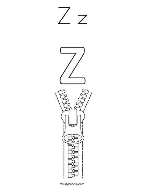 Z Z Coloring Page Coloring Pages Phonics Kindergarten Alphabet Preschool