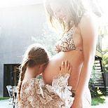 josie maran & daughter & belly // the glow
