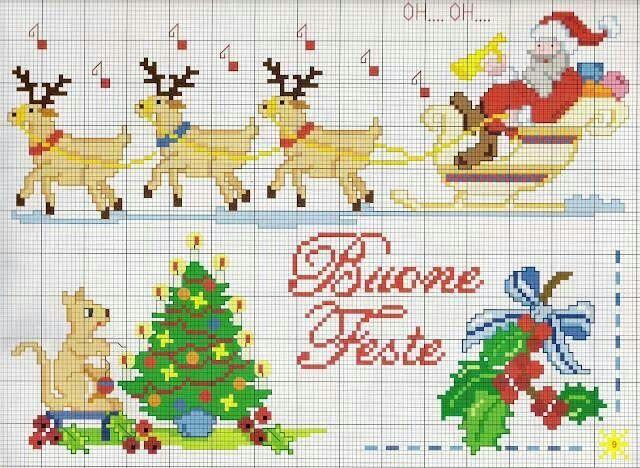 Motivos navideños christmas cross stitch Pinterest Cross