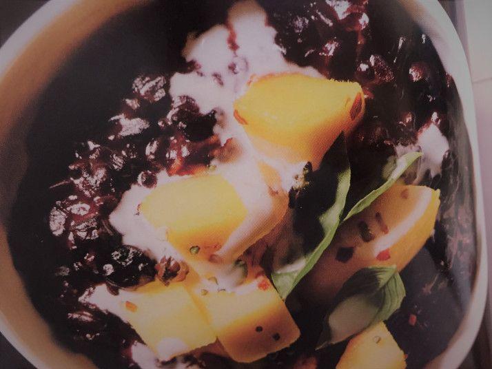 Black Rice Pineapple Pudding. | Pineapple pudding, Black ...