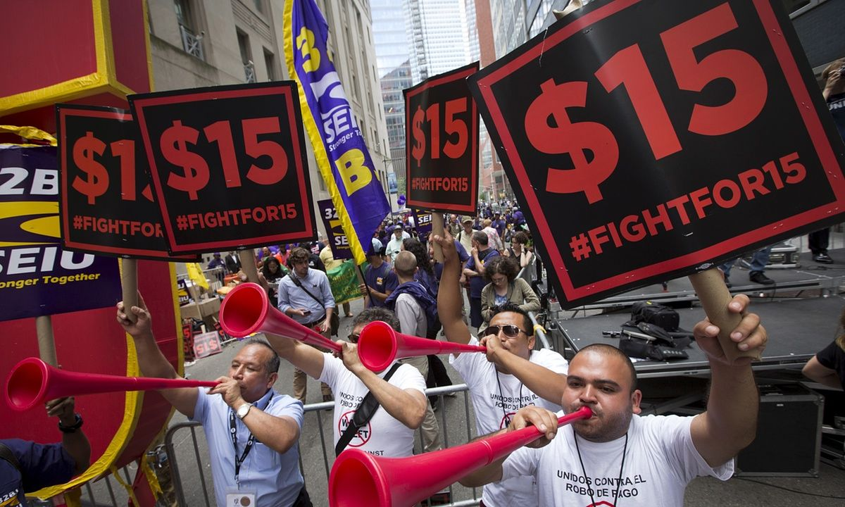 The US economy remains weak, and that the cause of that weakness is the poor pay endured by low and middle-income workers