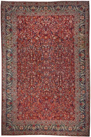 Kashan Carpet Central Persia Circa 1930 Size Approximately 10ft X 15ft Rugs On Carpet Asian Rugs Oriental Carpets