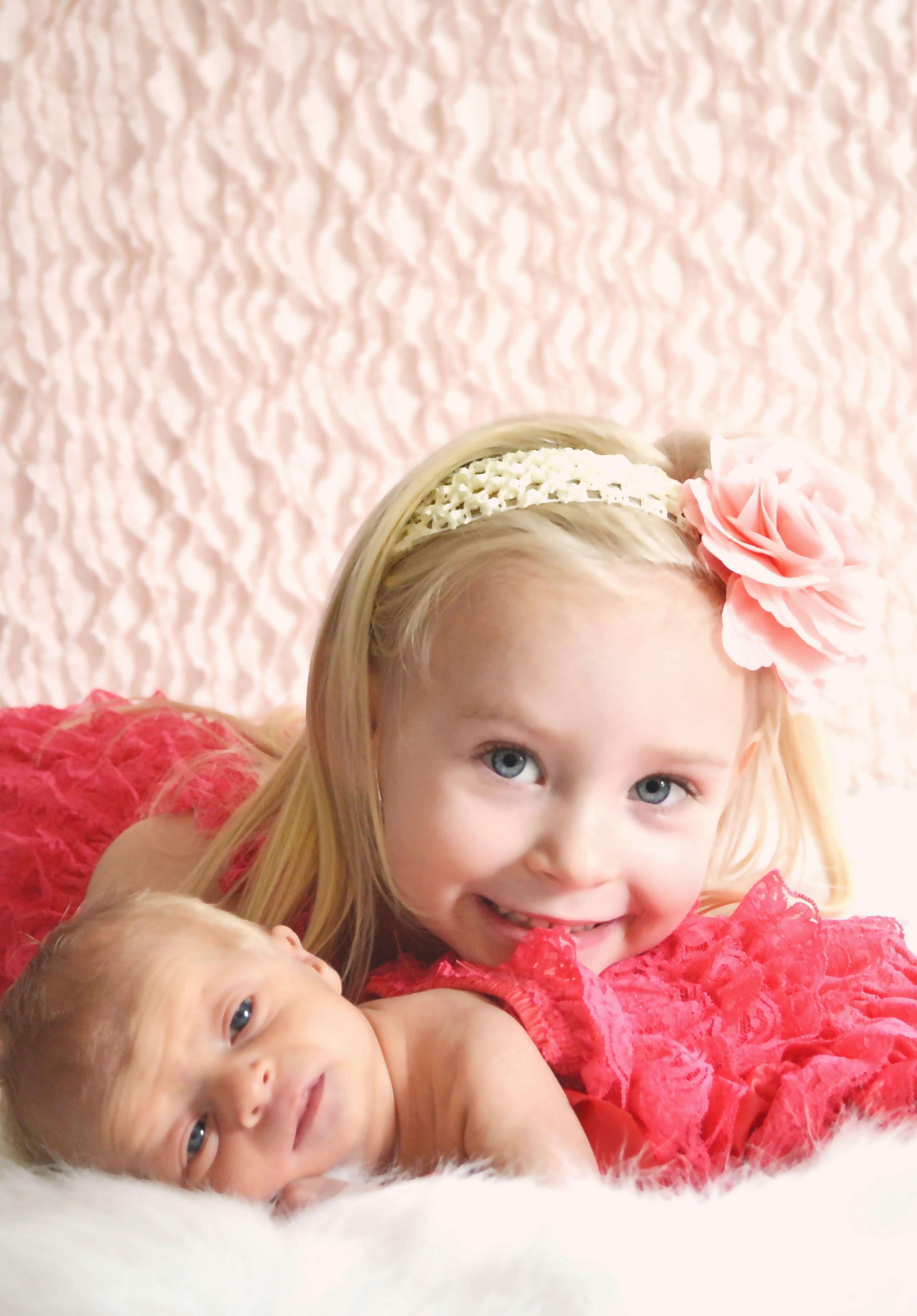 306e255817cf7 Big Sister Little Sister Newborn Baby Girl Photo Shoot PINK - This ...
