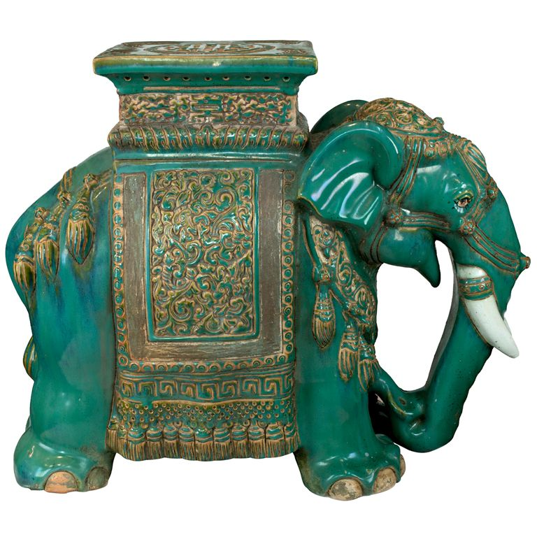 Chinese Ceramic Elephant Table In 2019