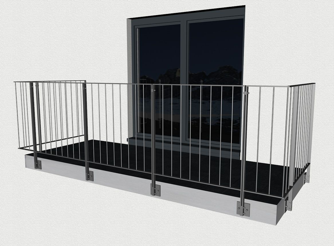 Balkongelander Montreal Edelstahl Bogner Metall Shop Balkon Gelander Design Balkongelander Edelstahl Fenstergitter