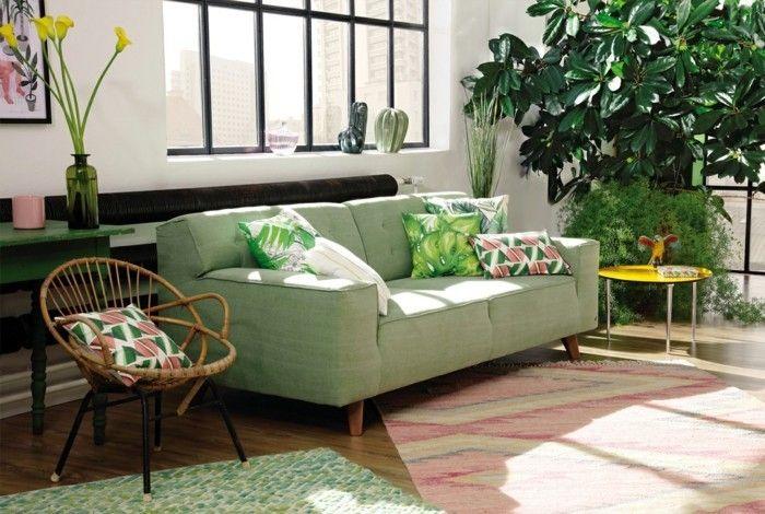 Znalezione Obrazy Dla Zapytania Jungle Style Living Room In 2019 Living Room Sofa Home Nordic Design