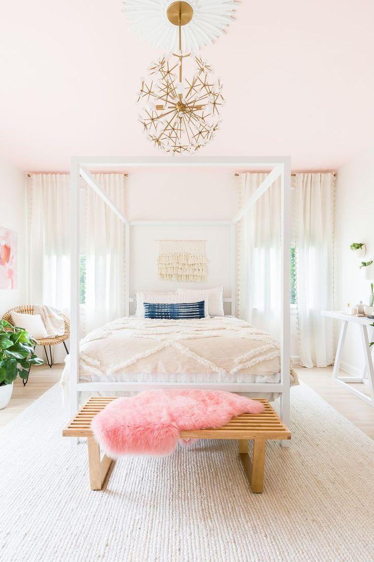 Couleur De Chambre Et Peinture Murale En Rose Pale