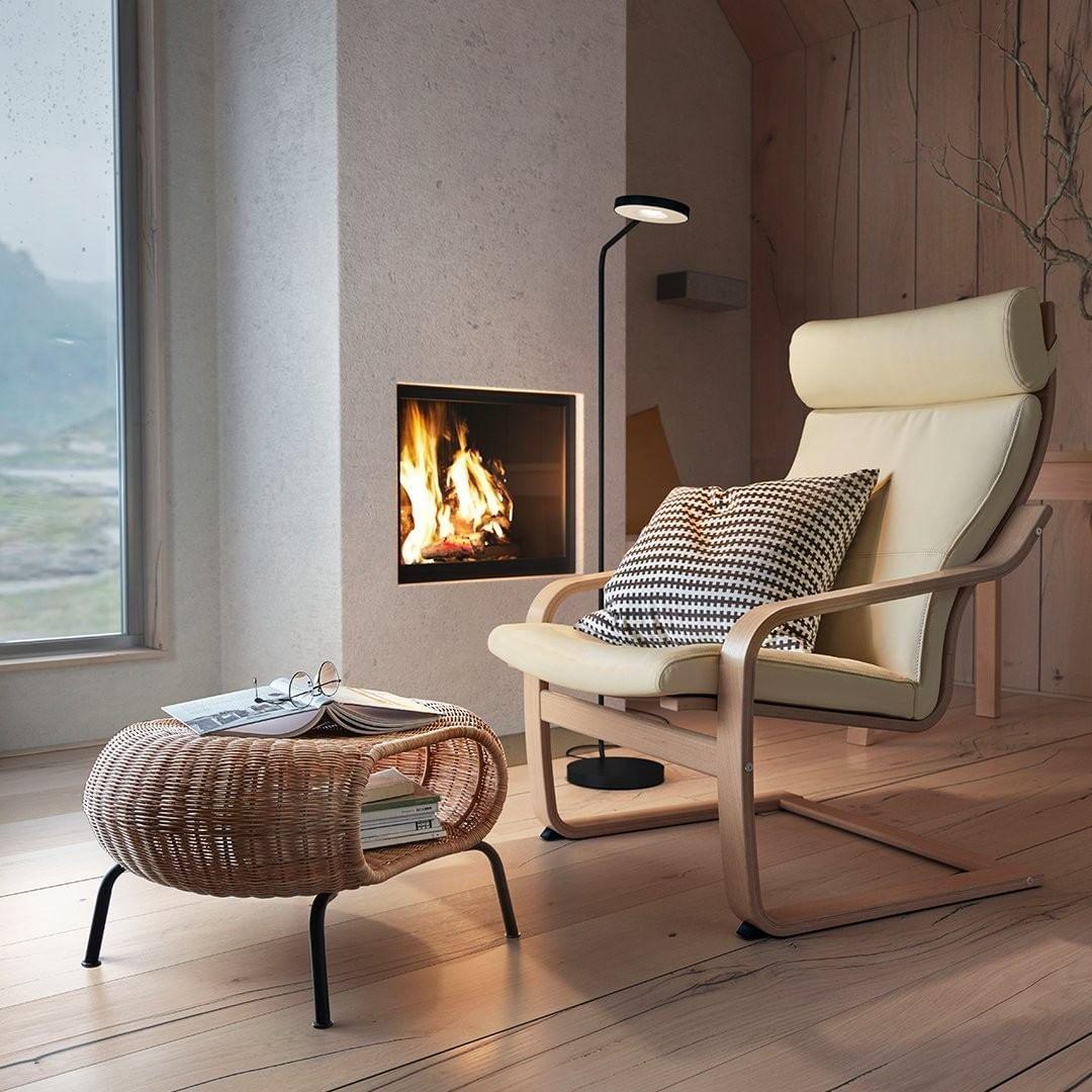 """ikea canada on instagram """"warm fireplace 🔥  cozy seating"""