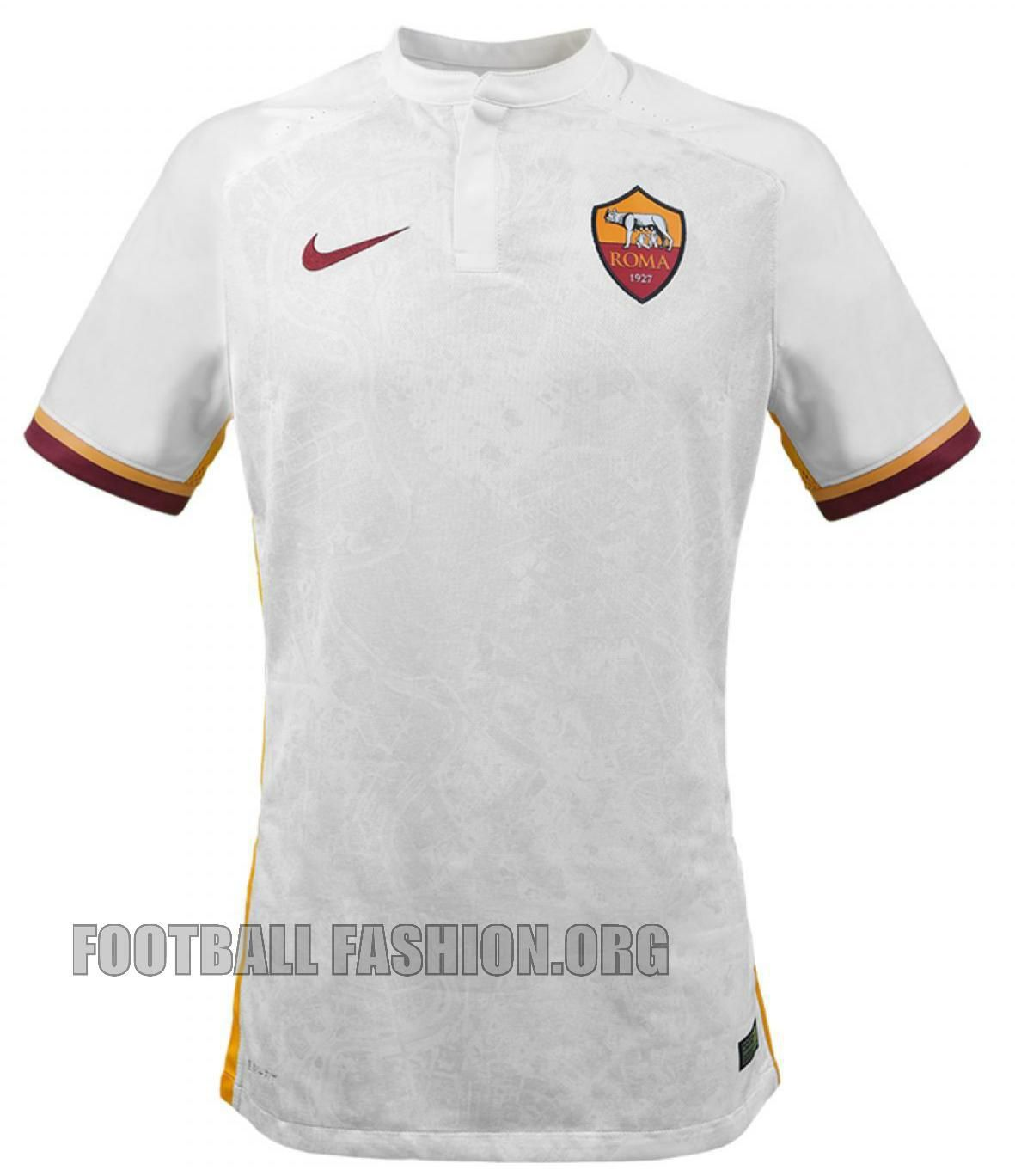 AS Roma 2015 2016 Nike White Away Football Kit 7a7b82db5