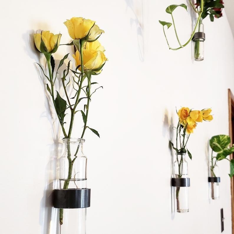 Hanging Vase Wall Vase Glass Hanging Vase Wall Hanging Etsy In 2020 Hanging Vases Hanging Glass Vase Wall Vase