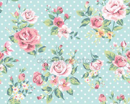 Telecharger Modele De Papier Peint Sans Couture Vintage Fleur Rose