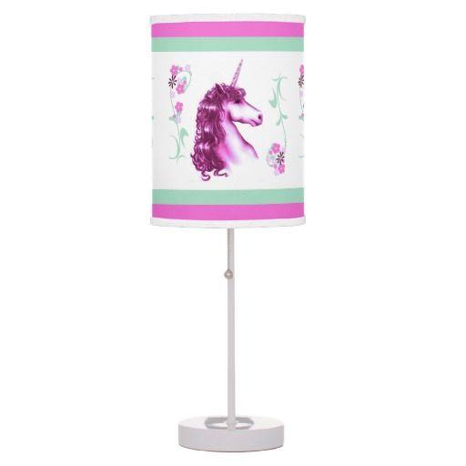 Pretty Pink Unicorn Table Lamp | Zazzle.com | Purple ...
