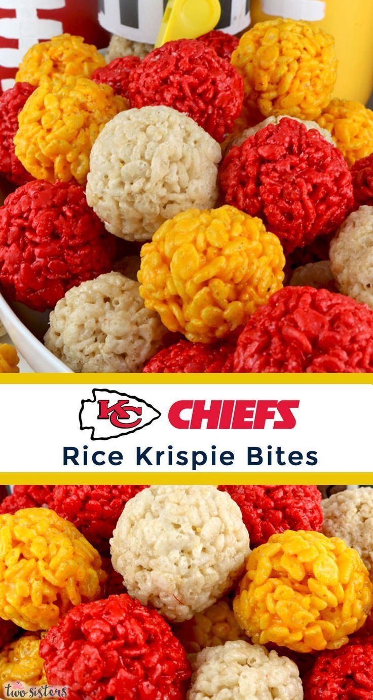 Kansas City Chiefs Rice Krispie Bites