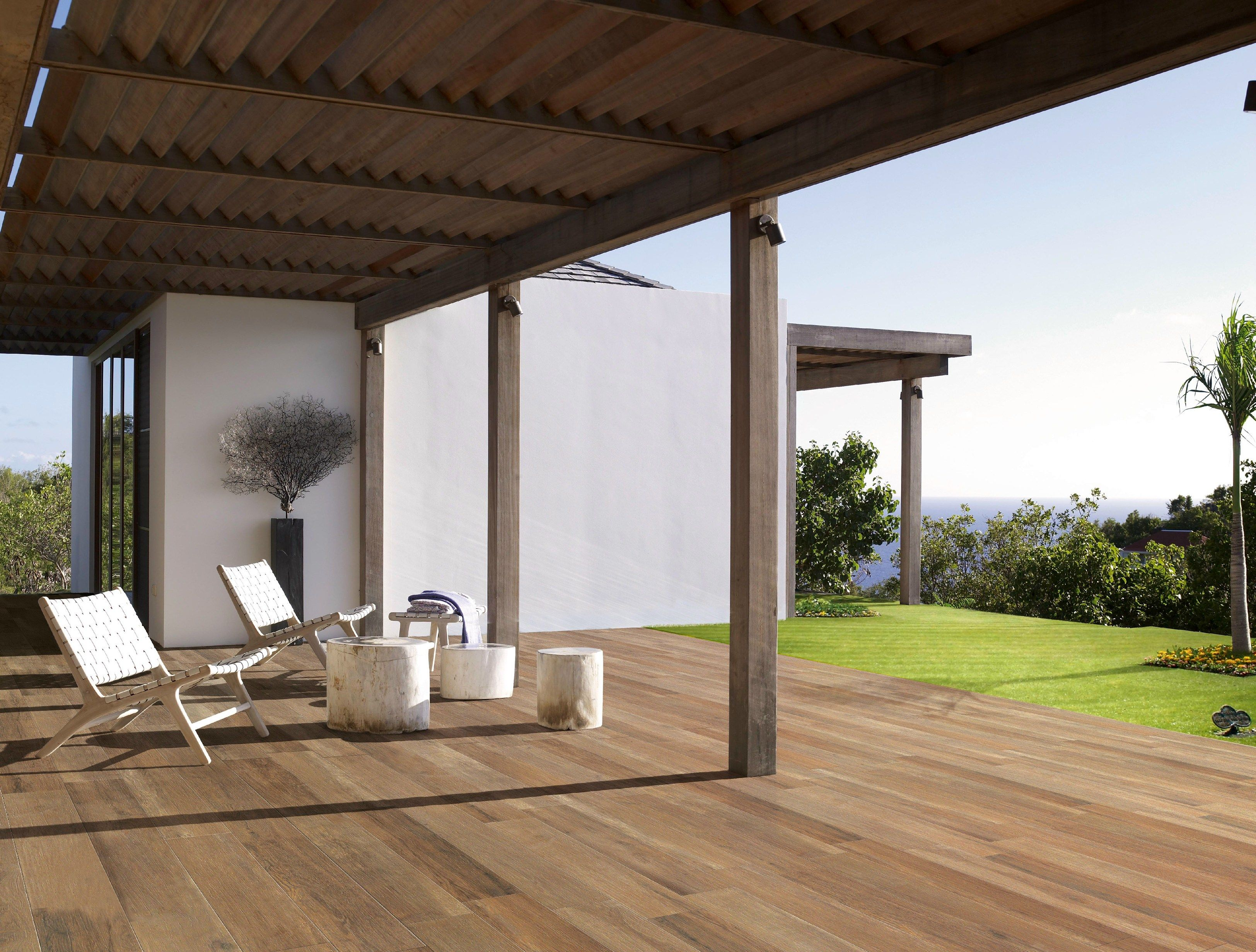 Indoor Outdoor Porcelain Stoneware Flooring With Wood Effect