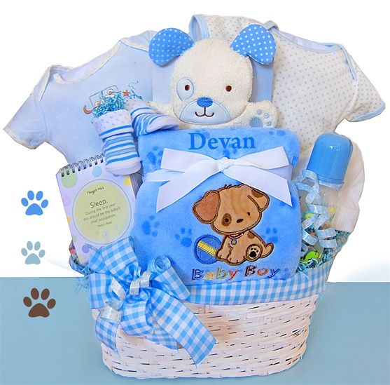 Baby boy gifts personalized presenting simply unique baby baby boy gifts personalized presenting simply unique baby gifts puppy pals baby boy basket negle Images