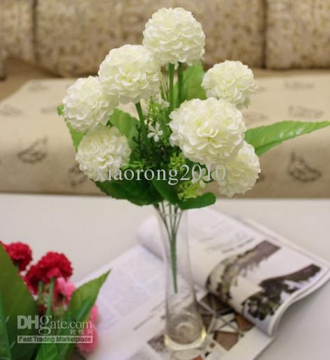 Wholesale decorative flowers wreaths buy new 40cm1575 length wholesale decorative flowers wreaths buy new 40cm1575 length artificial silk flowers simulation plants ball hydrangea bush nine flower mightylinksfo