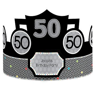 50th birthday party hats