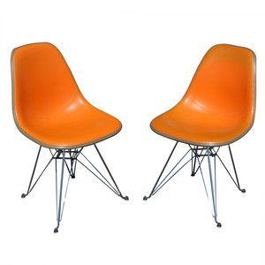 2 herman miller eames upholstered shell chair ebay design snob