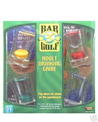 Drinking Game Golf Game Bar Golfing Shot Glass Disc Flip Liquor