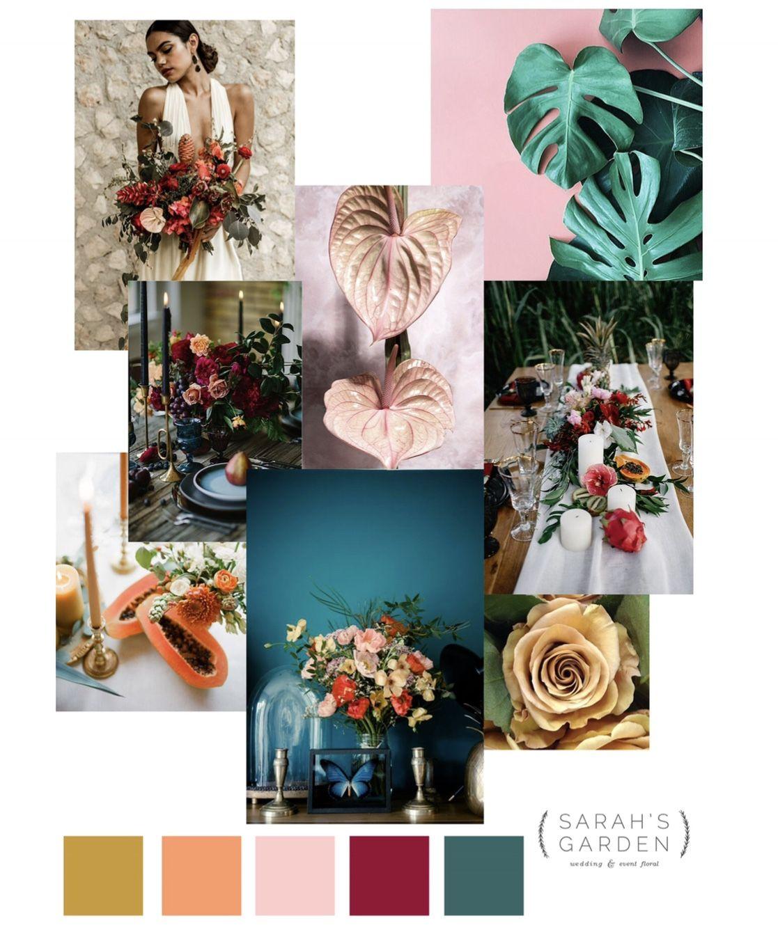 Modern Tropical Wedding Color Palette Inspiration Tropical Wedding Color Palette Wedding Color Palette Inspiration Wedding Color Palette
