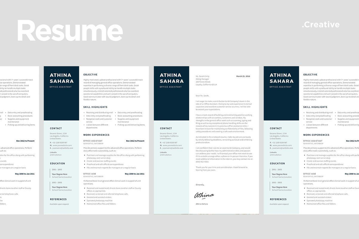 Ad professional resume template 06 by ariodsgn on