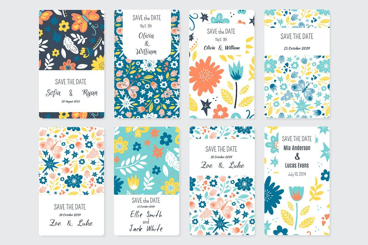 144 Save tha Date templates Card templates, Collage