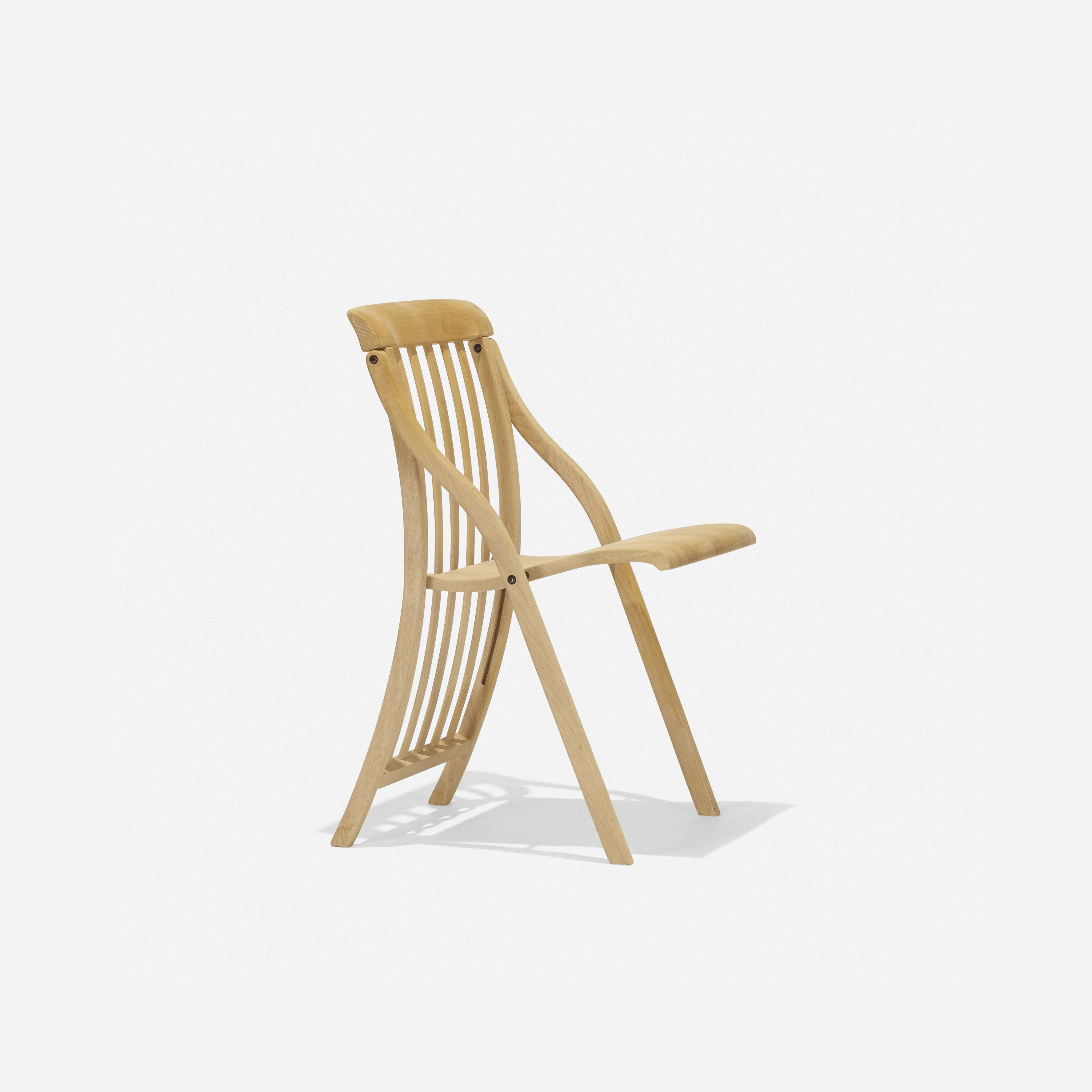 Michele de Lucchi Sedia folding chair 1993 beech 17¾ w x 21¾