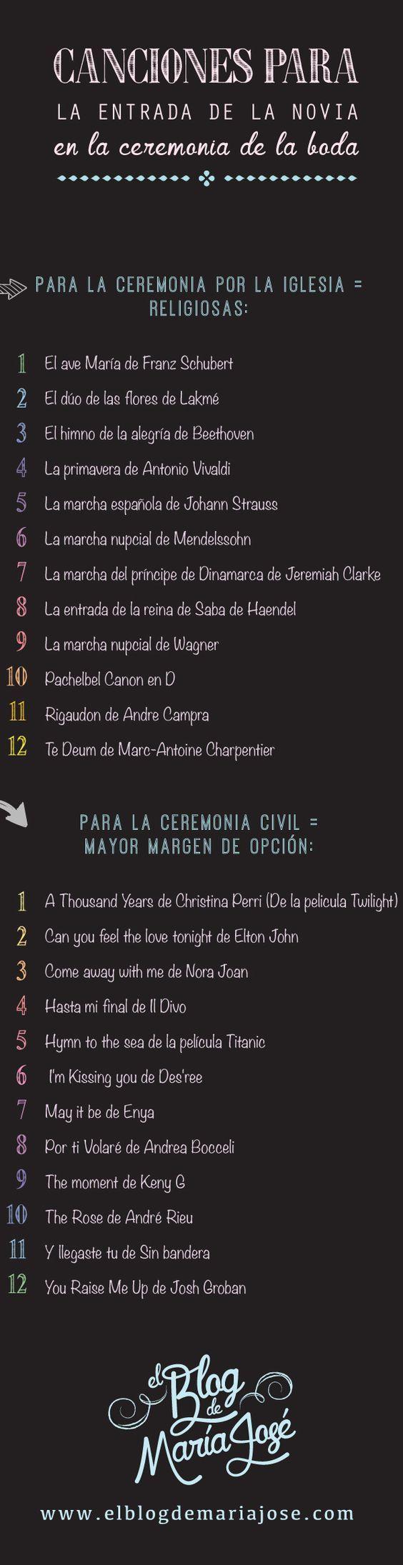 Canciones Para La Entrada De La Novia En La Ceremonia De La Boda Canciones De Boda Ceremonia De La Boda Boda