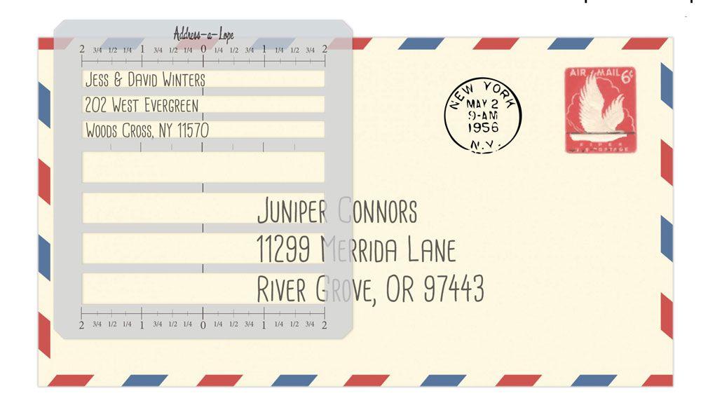 Letter Addressing Stencil.Envelope Address Template Stencil Paper Scissors And