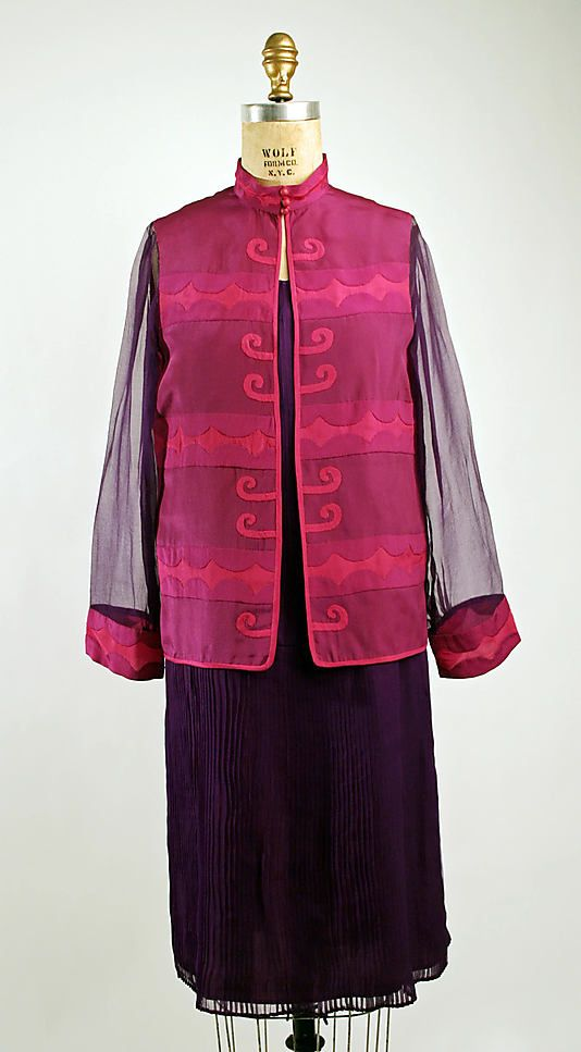 Ensemble Mariska Karasz  Date: ca. 1927 Culture: American Medium: silk Accession Number: 1977.284.1a, b