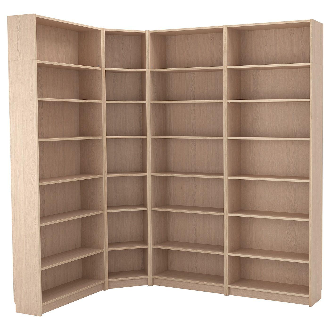 BILLY Bücherregal Eichenfurnier weiß lasiert IKEA
