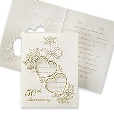 Large Collection Of 50th Golden Wedding Anniversary Invitation Wordings,  Sayings, And Verses At InvitationsByU