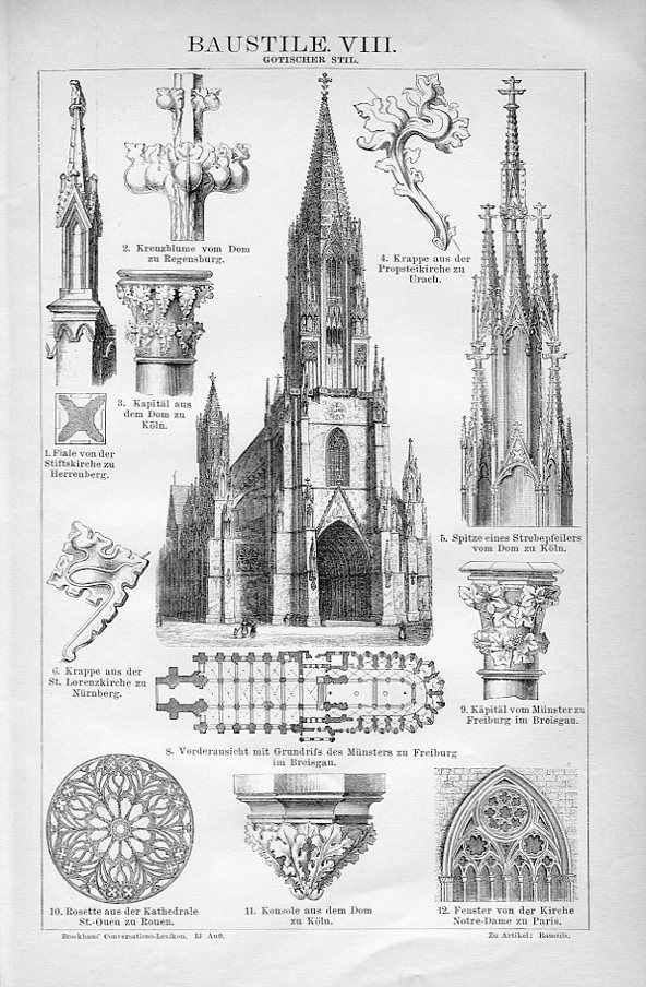 Gothic Style Brockhaus Architecture Drawing Gothic Architecture Drawing Architecture Sketchbook