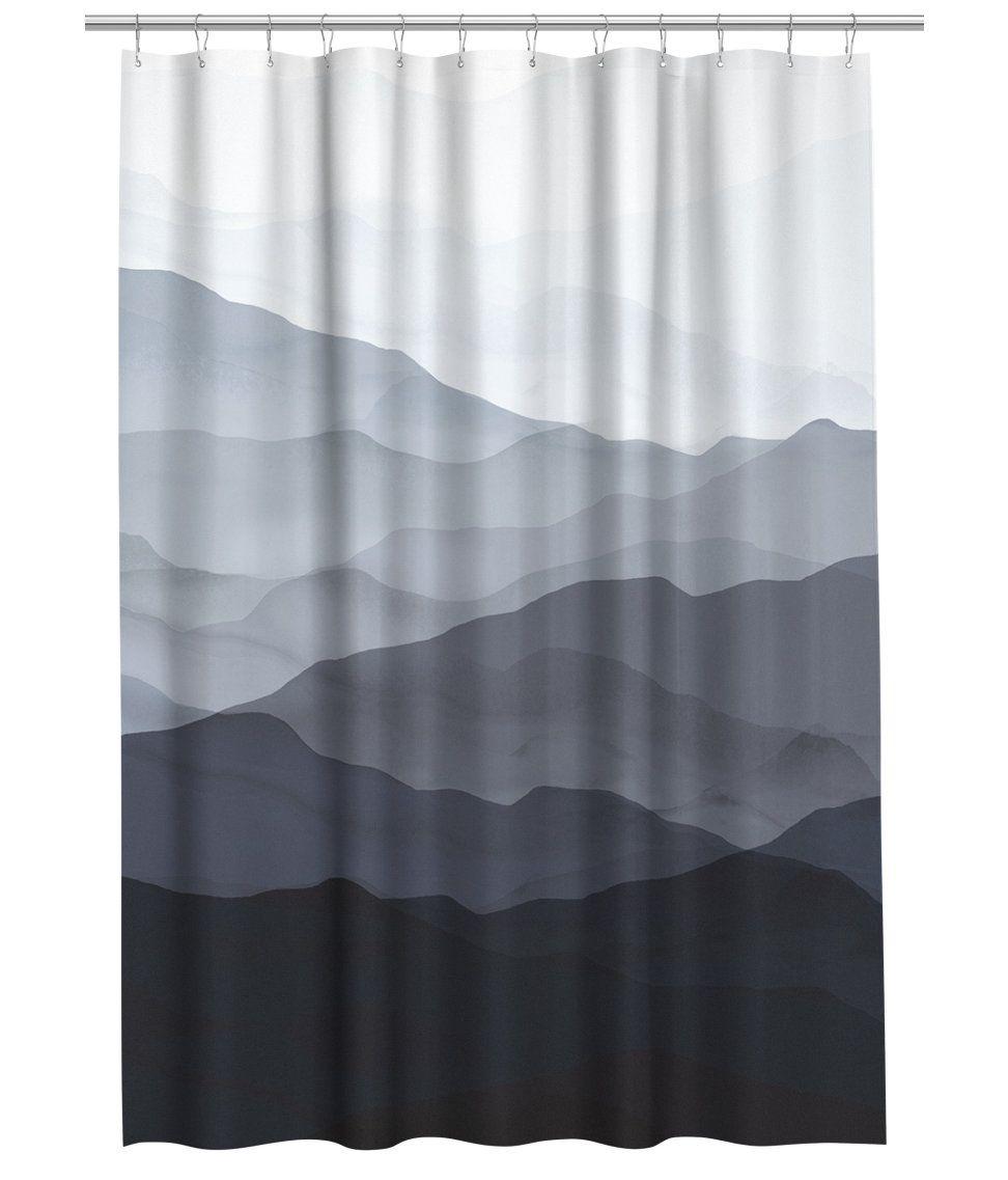 sieh s dir an duschvorhang aus wasserabweisendem polyester mit musterdruck metall sen zum. Black Bedroom Furniture Sets. Home Design Ideas