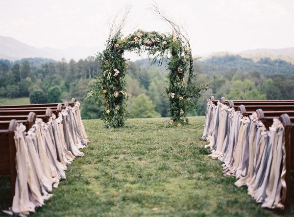 20 Ways to Style Your Aisle - Style Me Pretty-this is one of our favorites!