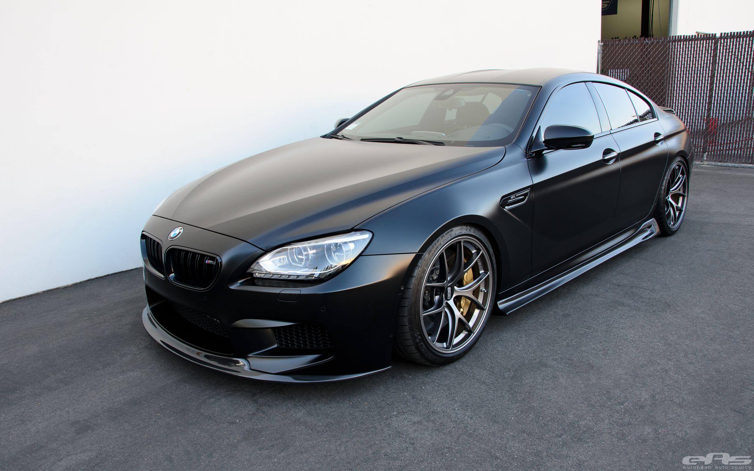 Frozen Black Bmw M6 Gran Coupe By Eas Bmw Bmw M6