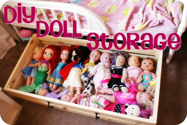 Childrens Jumbo Bedroom Room Tidy Toy Storage Chest Box Trunk: I Heart My Glue Gun: DIY Doll Storage