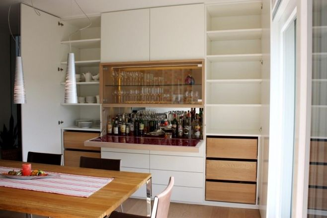 Einbauschrank Mit Bar Built In Cupboard With Integrated Bar