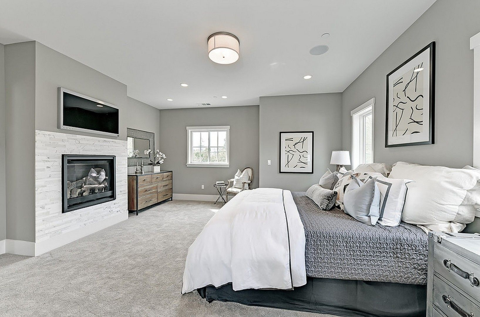 28 Grey Carpet Bedroom Ideas That Will Embrace The Sophisticated Look Gray Bedroom Walls Grey Carpet Bedroom Gray Master Bedroom