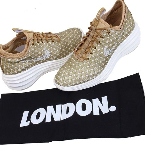 Nike Lunar Elite Sky Hi City Pack Casual Shoes Gold White, AUD $69.64 | www