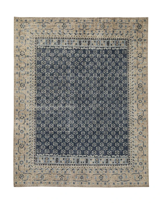 Anya Indigo Hand Knotted Rug Hand Knotted Rugs Rugs Rug Pattern