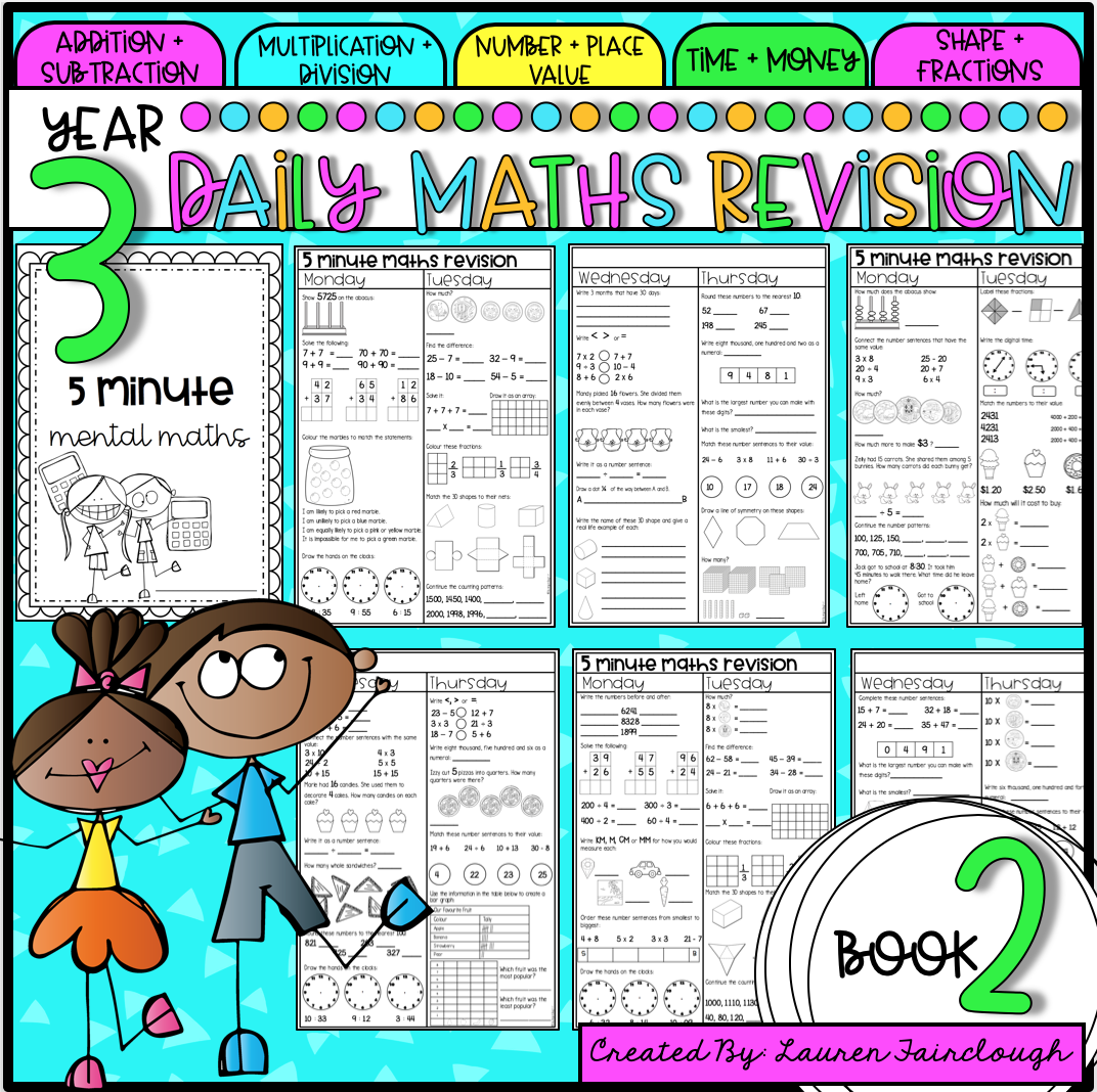 Year Three Maths Revision Book 2